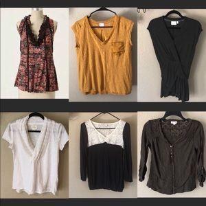 SALE Anthropologie Lot  Bundle Of 6 Top blouse S